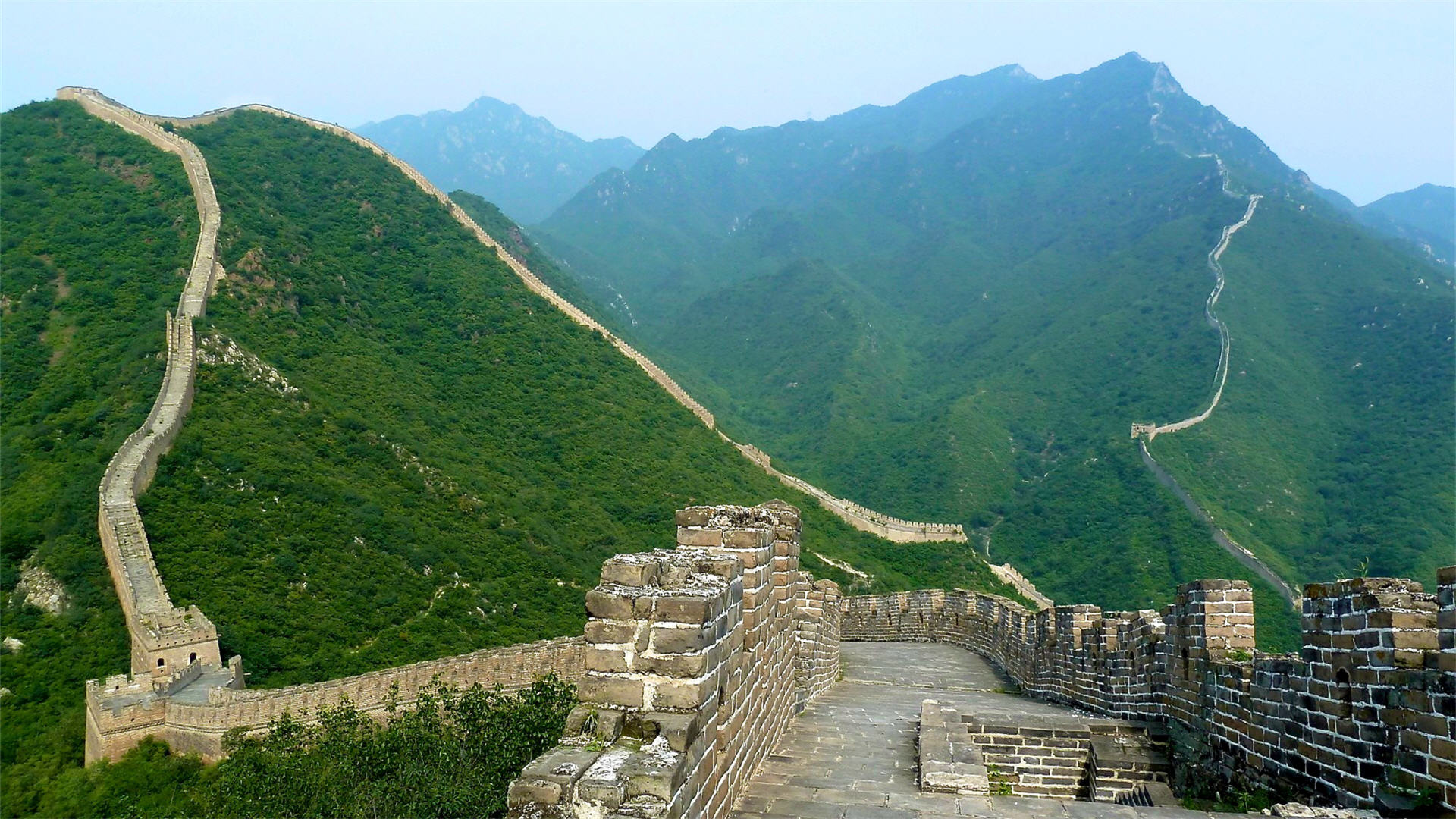 Great Wall of China at Badaling, China загрузить